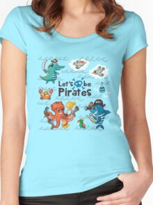 Let's be Pirates! Women's Fitted Scoop T-Shirt