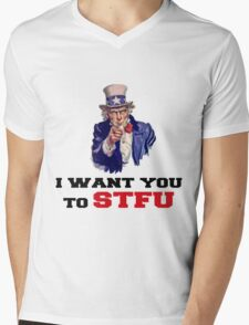 I WANT YOU TO STFU Mens V-Neck T-Shirt