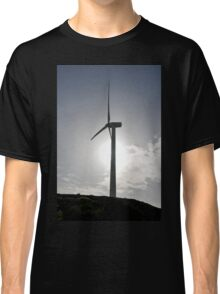 Wind turbines create clean and renewable electricity  Classic T-Shirt