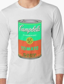 Campbell's Soup Can - Andy Warhol Print Long Sleeve T-Shirt