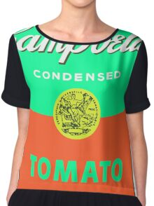 Campbell's Soup Can - Andy Warhol Print Chiffon Top
