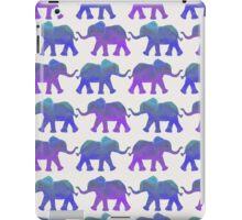Follow The Leader - Painted Elephants in Purple, Royal Blue, & Mint iPad Case/Skin