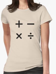 MATH SIGNS Womens Fitted T-Shirt