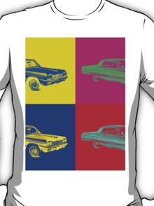 1964 Chevrolet Impala Muscle Car Pop Art T-Shirt