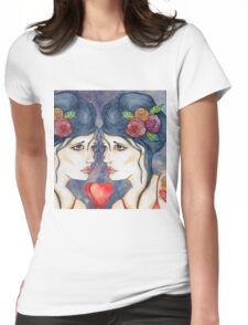 Double heart aches Womens Fitted T-Shirt