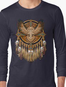 Native American Beadwork Owl Mandala Long Sleeve T-Shirt