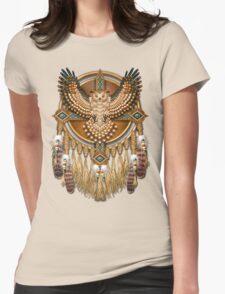 Native American Beadwork Owl Mandala Womens Fitted T-Shirt