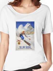 Vintage The Inn Unique of Notchland, IN, Crawford Notch Travel  Women's Relaxed Fit T-Shirt