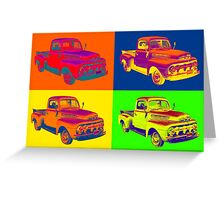 1951 ford F-1 Pickup Truck Pop Art Greeting Card