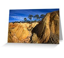 Pink Cliff 3 Greeting Card