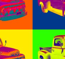 1951 ford F-1 Pickup Truck Pop Art Sticker
