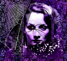 Marlene Dietrich and the spider by PrivateVices