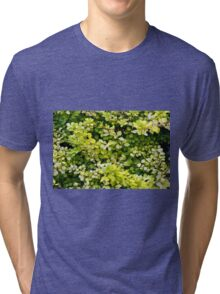 Natural background with small yellow green leaves. Tri-blend T-Shirt