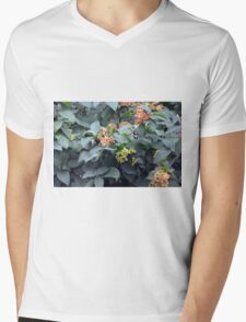 Tree branches with buds. Mens V-Neck T-Shirt
