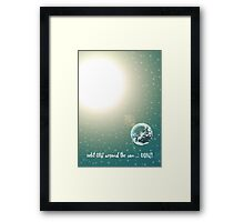 First Birthday Trip Around the Sun Framed Print