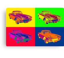 1962 Chevrolet Corvette Pop Art Canvas Print