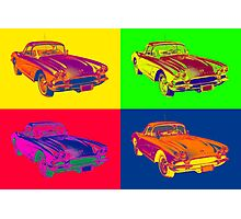 1962 Chevrolet Corvette Pop Art Photographic Print