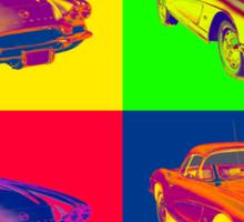 1962 Chevrolet Corvette Pop Art Sticker