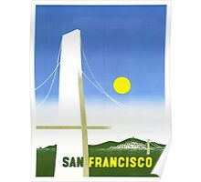 San Francisco - Vintage Travel Poster Poster