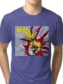 Whaam! - Roy Lichtenstein Print Tri-blend T-Shirt