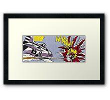 Whaam! - Roy Lichtenstein Print Framed Print