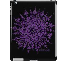Heart Centred Mandala - purple print iPad Case/Skin