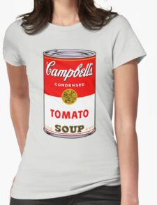 Campbell's Tomato Soup Can - Andy Warhol Womens Fitted T-Shirt