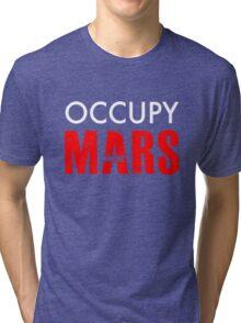 Occupy Mars - Distressed Tri-blend T-Shirt