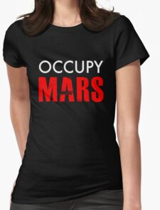 Occupy Mars - Distressed Womens Fitted T-Shirt