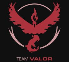 Team Valor Logo with Text Kids Tee