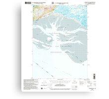 USGS TOPO Map Alaska AK Cordova B-5 355159 2000 63360 Canvas Print