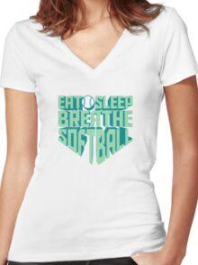 Eat. Sleep. Breathe. Softball. - Sports T shirt Women's Fitted V-Neck T-Shirt