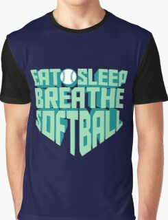 Eat. Sleep. Breathe. Softball. - Sports T shirt Graphic T-Shirt