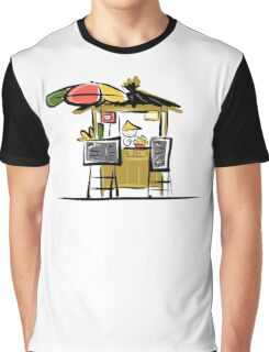Asian retail seller on street market, sketch Graphic T-Shirt
