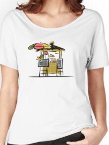 Asian retail seller on street market, sketch Women's Relaxed Fit T-Shirt