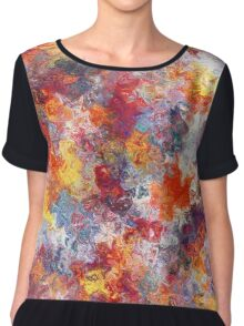 """Mom In Transcendence"" - Digital Artifact Women's Chiffon Top"