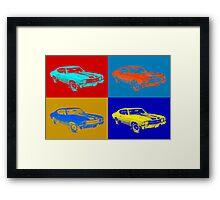 1971 chevrolet Chevelle SS pop Art Framed Print