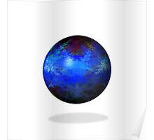 Abstract Blue Globe Poster