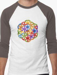 Flower of Life, sketch Men's Baseball ¾ T-Shirt