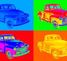 1947 Chevrolet Thrift Master Pickup Pop Art by KWJphotoart