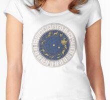 Venice zodiac clock, sketch Women's Fitted Scoop T-Shirt
