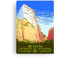 Zion National Park - Vintage Travel Poster Canvas Print