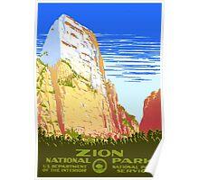 Zion National Park - Vintage Travel Poster Poster