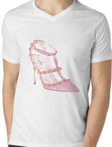 Pink Shoes Mens V-Neck T-Shirt