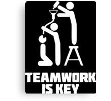 Teamwork is Key Canvas Print