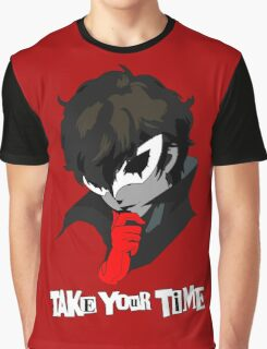 Persona 5 Take Your Time Graphic T-Shirt