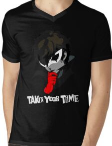 Persona 5 Take Your Time Mens V-Neck T-Shirt