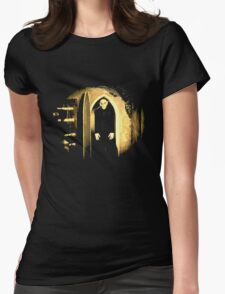 Black Nosferatu 2 Womens Fitted T-Shirt