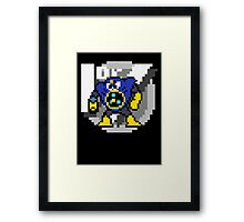 Airman with text (Black) Framed Print