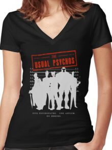 The Usual Psychos Women's Fitted V-Neck T-Shirt